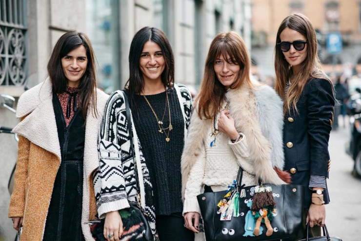 Street style - Milan Fashion Week - Carlotta Oddi and Chiara Totire