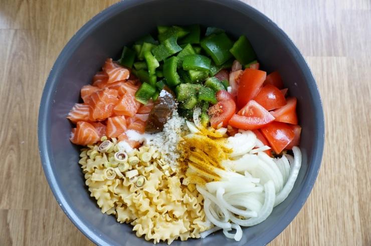 One pot pasta saumon et lait de coco - The Cook Time