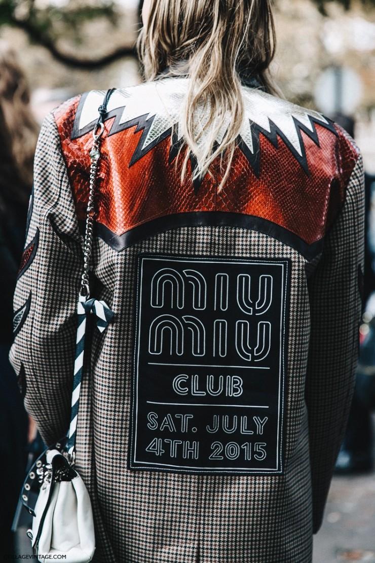 PFW - SS 16 - Street style - Miu Miu Club jacket