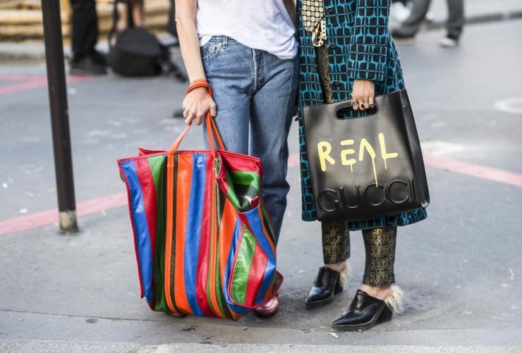 PFW SS 17 - Gucci & Balenciaga bags