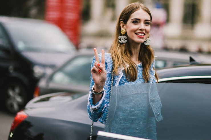 Shotbygio - George Angelis - Chiara Ferragni - PFW - Chanel earrings
