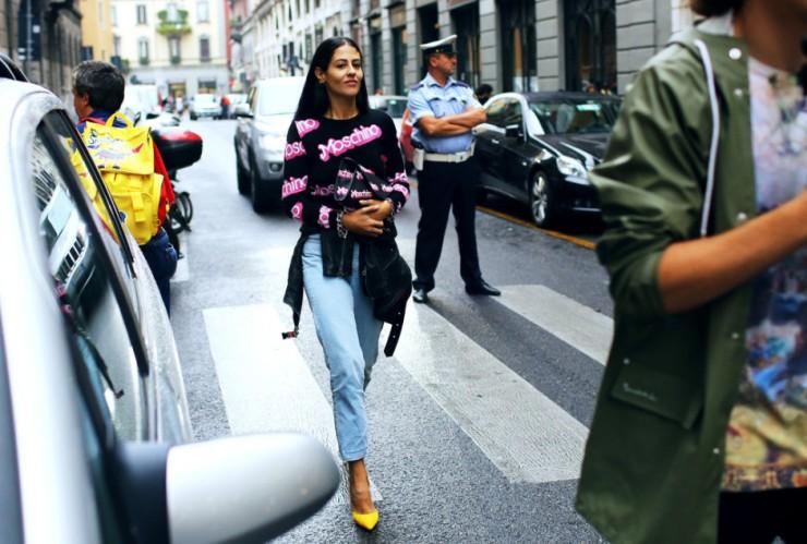 Gilda Ambrosio - Moschino pink sweatshirt