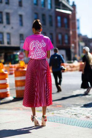 Giovanna Engelbert Pink as Fuck street style