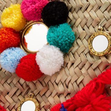 Cabas en paille à pompon sicilien Muzungu Sisters - matchesfashion.com